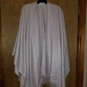 Blush wrap/shawl with silver rhinestones NWOT